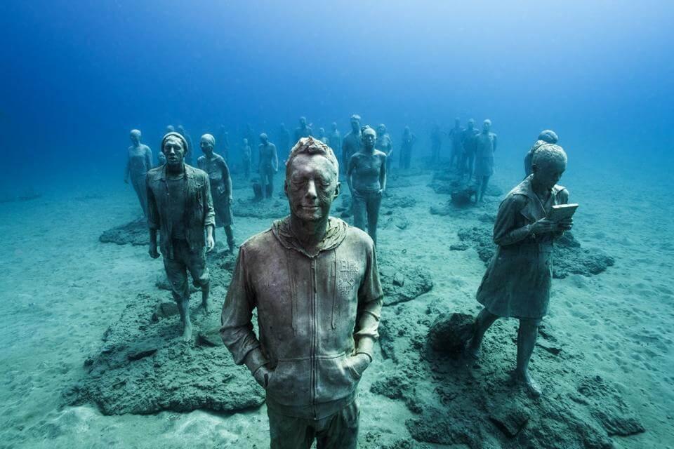 Esculturas em baixo da água - Viajar para América Central